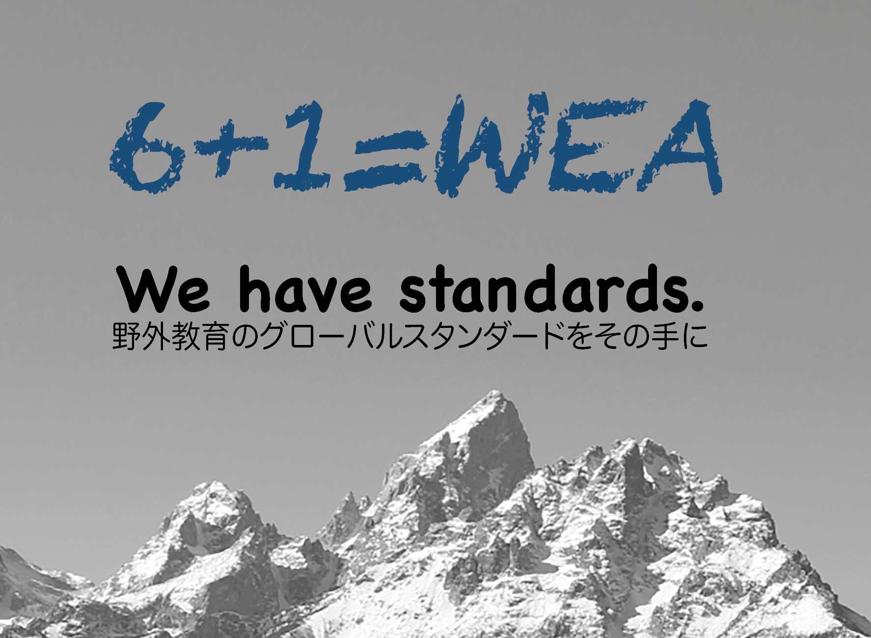 We have standards